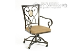 Brookside Oval Caster Game Chairs - Set of 2