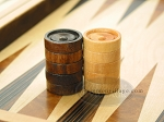 picture of Backgammon Checkers - Wood - Grooved (1in Dia.) - Set of 30. (2 of 2)