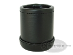 Vinyl Backgammon Dice Cup - Round - Black - Item: 1752