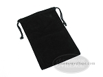 Black Felt Dice Bag - (6 in. x 9 in.) - Item: 1774