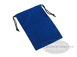 Blue Felt Dice Bag - (6 in. x 9 in.) - Item: 1775