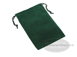Green Felt Dice Bag - (6 in. x 9 in.) - Item: 1776