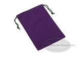 Purple Felt Dice Bag - (6 in. x 9 in.) - Item: 1778