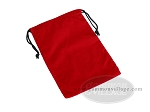 Red Felt Dice Bag - (6 in. x 9 in.) - Item: 1779