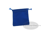 Budget Blue Felt Dice Bag - (4 in. x 5 in.) - Item: 1767