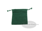 Budget Green Felt Dice Bag - (4 in. x 5 in.) - Item: 1770
