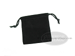 Deluxe Black Felt Dice Bag - (4 in. x 5 in.) - Item: 1766