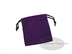 Deluxe Purple Felt Dice Bag - (4 in. x 5 in.) - Item: 1772