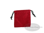 Deluxe Red Felt Dice Bag - (4 in. x 5 in.) - Item: 1773