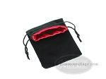 picture of Black Velvet Dice Bag With Red Satin Lining - (5 in. x 8 in.) (2 of 2)