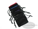 Velvet Dice Bag With Colored Satin Lining - (3-1/4