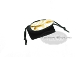 picture of Black Velvet Dice Bag With Gold Satin Lining - (3 1/4 in. x 4 in.) (2 of 2)