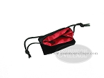 picture of Black Velvet Dice Bag With Red Satin Lining - (3 1/4 in. x 4 in.) (2 of 2)