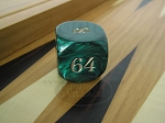 picture of 1 3/8 in. Backgammon Doubling Cube - Green Marbleized (1 of 1)