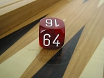 1 3/16 in. Backgammon Doubling Cube - Red Marbleized - Item: 1744