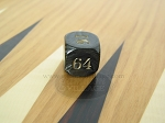 7/8 in. Backgammon Doubling Cube - Black Marbleized - Item: 1737