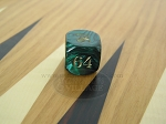 7/8 in. Backgammon Doubling Cube - Green Marbleized - Item: 1739