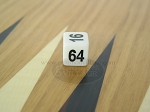 5/8 in. Backgammon Doubling Cube - White Plastic - Item: 1735