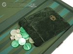 picture of Dal Negro Backgammon Set - Green Cialux (8 of 10)