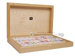 Double 9 Bicolor Dominoes in Poplar Root Wood Box - Item: 3106