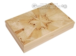 Double 9 Bicolor Dominoes in Poplar Root Wood Box