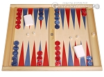 Dal Negro Wood Tabletop Backgammon Set - Skiathos - Item: 3101