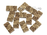 picture of Double 9 Venetian Dominoes in Poplar Root Wood Box (7 of 7)