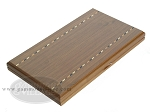 picture of Dal Negro Wood Backgammon Set - Walnut & Leather (10 of 10)