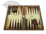 Dal Negro Wood Backgammon Set - Walnut & Leather