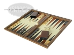 picture of Dal Negro Wood Backgammon Set - Walnut & Leather (3 of 10)