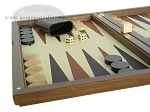 picture of Dal Negro Wood Backgammon Set - Walnut & Leather (5 of 10)