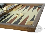 picture of Dal Negro Wood Backgammon Set - Walnut & Leather (6 of 10)
