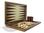 picture of Dal Negro Wood Backgammon Set - Walnut & Leather (7 of 10)