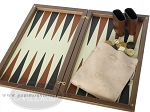 picture of Dal Negro Wood Backgammon Set - Walnut & Leather (8 of 10)