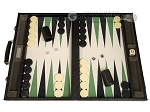 GammonVillage Tournament Backgammon Set - Champion Class - Black with Cream Field - Item: 4016