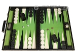 GammonVillage Tournament Backgammon Set - Champion Class - Black with Green Field - Item: 4017
