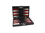 picture of Hector Saxe Epi Leatherette Travel Backgammon Set - Black (1 of 6)