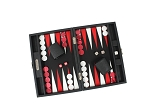 picture of Hector Saxe Epi Leatherette Travel Backgammon Set - Black (2 of 6)