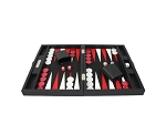 picture of Hector Saxe Epi Leatherette Travel Backgammon Set - Black (3 of 6)