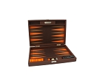 Hector Saxe Epi Leatherette Travel Backgammon Set - Brown