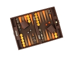 picture of Hector Saxe Epi Leatherette Travel Backgammon Set - Brown (2 of 6)