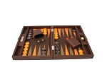 picture of Hector Saxe Epi Leatherette Travel Backgammon Set - Brown (3 of 6)