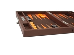 picture of Hector Saxe Epi Leatherette Travel Backgammon Set - Brown (4 of 6)