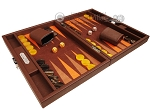 picture of Hector Saxe Epi Leatherette Travel Backgammon Set - Brown (2 of 12)
