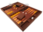 picture of Hector Saxe Epi Leatherette Travel Backgammon Set - Brown (3 of 12)