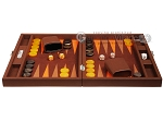 picture of Hector Saxe Epi Leatherette Travel Backgammon Set - Brown (4 of 12)