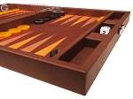 picture of Hector Saxe Epi Leatherette Travel Backgammon Set - Brown (6 of 12)