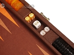 picture of Hector Saxe Epi Leatherette Travel Backgammon Set - Brown (7 of 12)