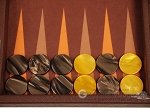 picture of Hector Saxe Epi Leatherette Travel Backgammon Set - Brown (8 of 12)