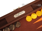 picture of Hector Saxe Epi Leatherette Travel Backgammon Set - Brown (9 of 12)